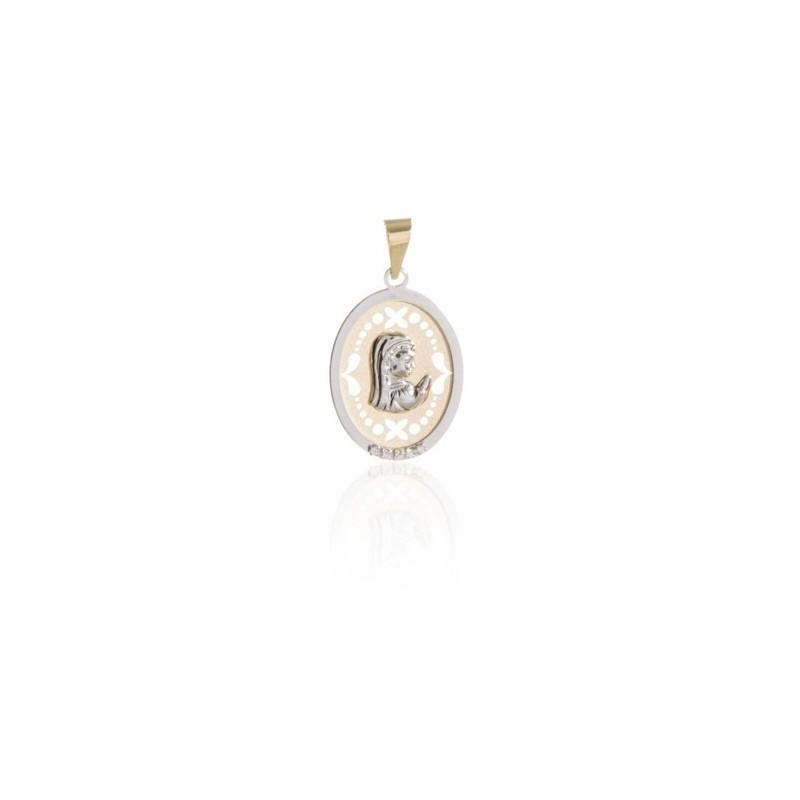 Colgante Medalla Virgen Niña