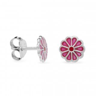 Brincos flor rosa