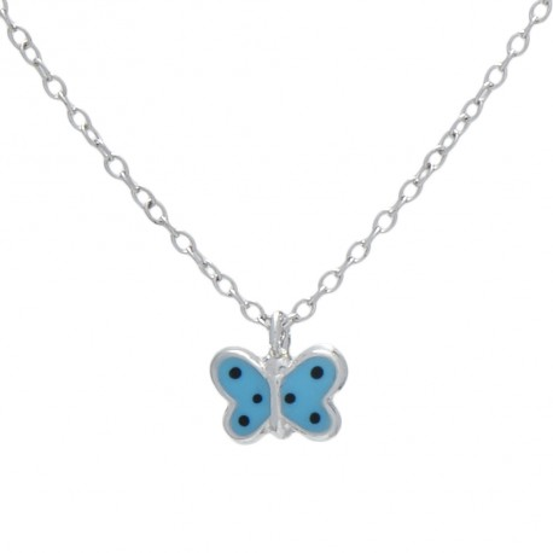 Collar Mariposa Azul