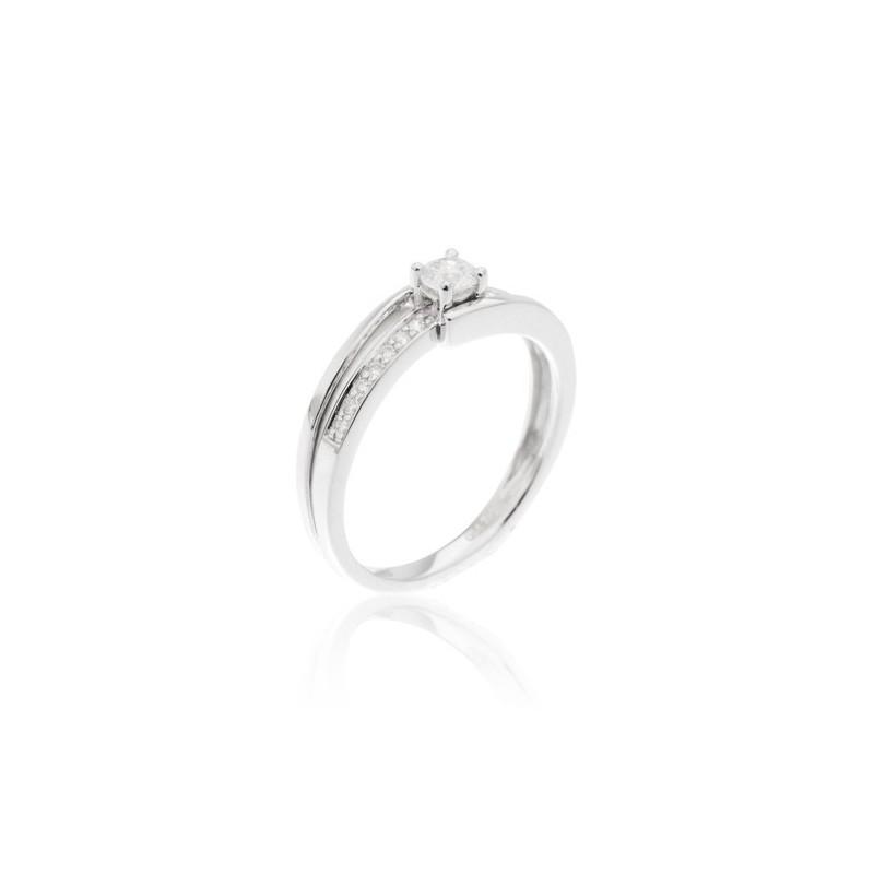 Anel 15 Diamantes
