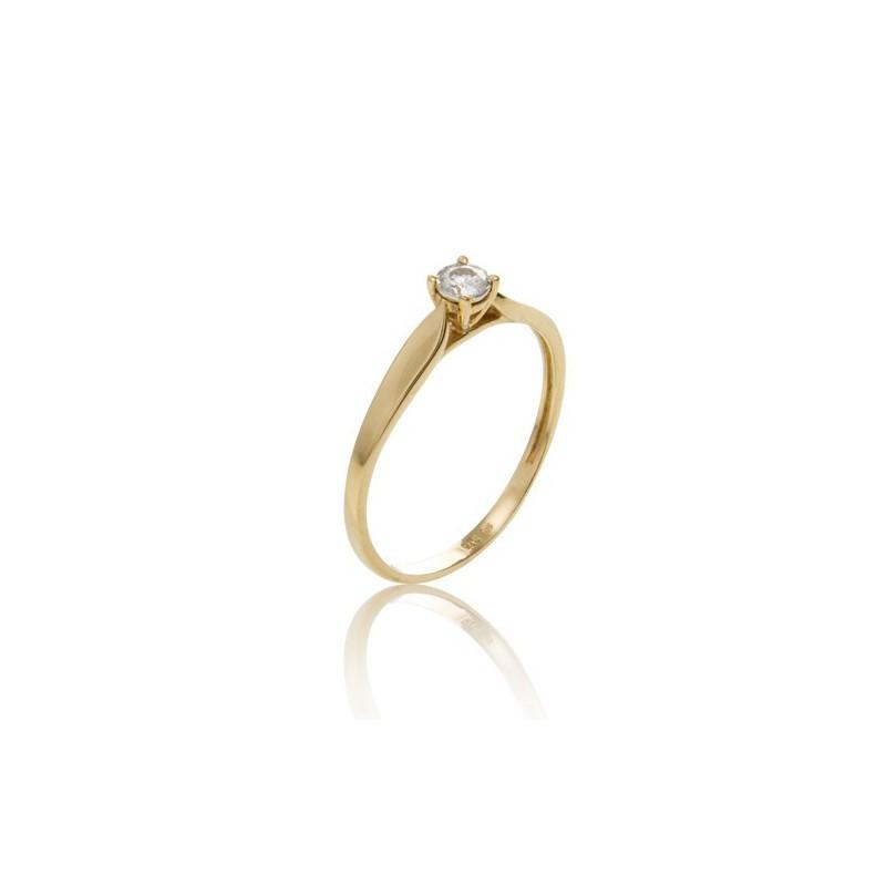 Anillo 4 Garras Diamante