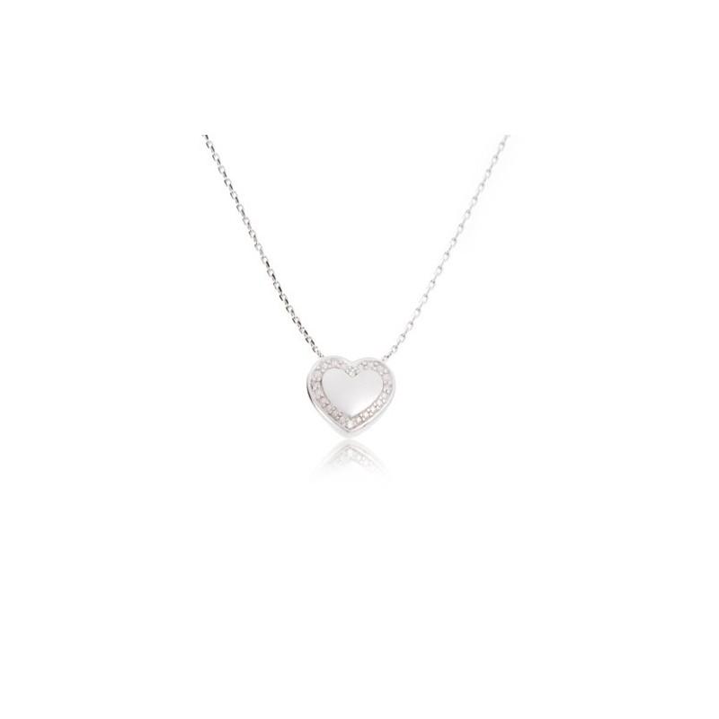 Collar Corazón Diamante