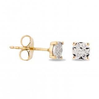 Brincos Diamante 4 garras