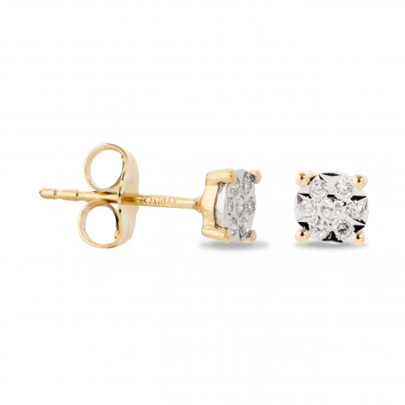 Pendientes Diamante 4 Garras