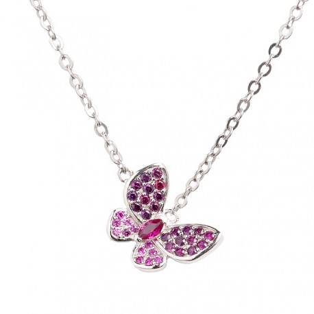 Collar Pink Buterfly
