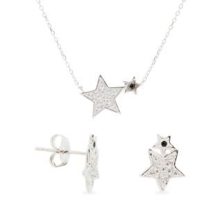 Conjunto Collar y Pendientes Estrellas