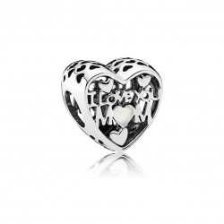 "PANDORA - CHARM ""I LOVE YOU MOM"" PLATA"
