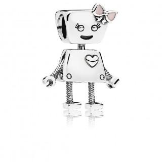 PANDORA - CHARM ROBOT BELLA PRATA
