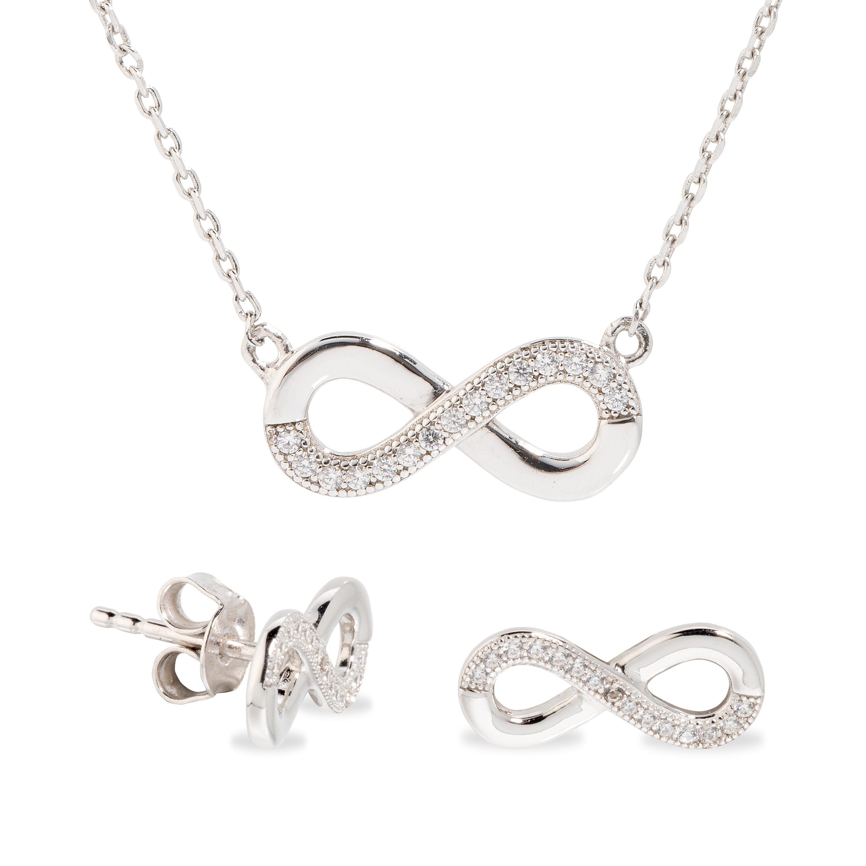 5136be286e53 Conjunto Collar y Pendientes Infinity - Oro Vivo