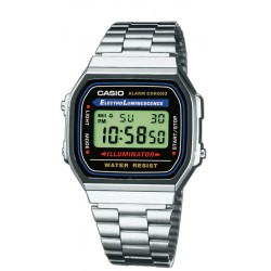 RELOJ CASIO COLLECTION DIGITAL ACERO A168WA-1YES PARA MUJER