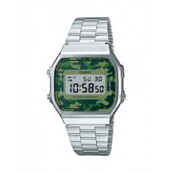 RELOJ CASIO COLLECTION DIGITAL ACERO MILITAR A168WEC-3EF