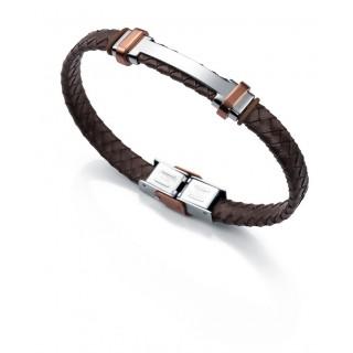 Viceroy - Pulsera, cuero y acero, marrón