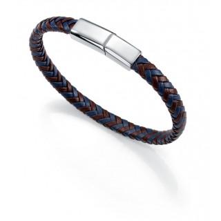 Viceroy - Pulsera, cuero y acero, azul