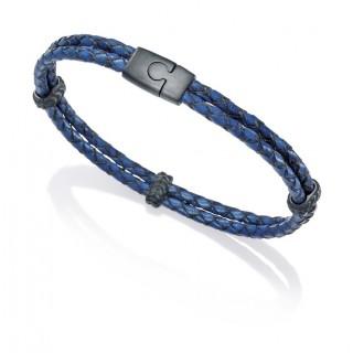Viceroy - Pulsera cuero trenzado, azul