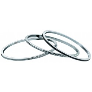 Calvin Klein - Pulsera combinada, talla S, acero