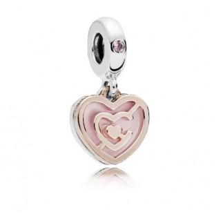 Pandora - Charm Coração Rosa