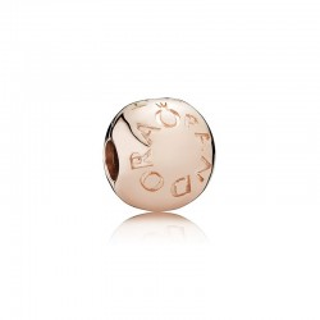 PANDORA - CLIP ROSE LOGO, PLATA, 781015