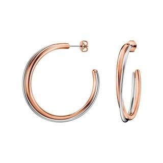 Calvin Klein - Pendientes Doble Bicolor