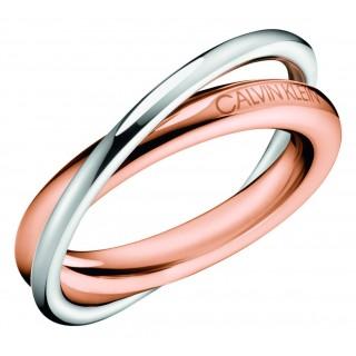 Calvin Klein - Anillo rosa, acero