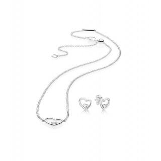 Pandora - Conjunto Pendientes y Collar 45 cm