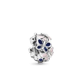 PANDORA - Charm Clip Mariposa Rosa y Azul