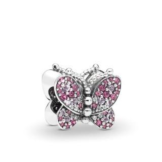 PANDORA - Charm Borboleta Rosa Zircônias