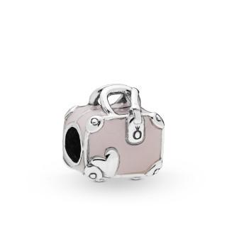 Charm Pandora 798063EN124 Maleta Rosa de plata
