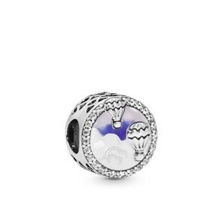 Charm Pandora 798061CZ Globo Viaje Multicolor de plata