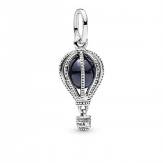 Charm Pandora 798064NMB Globo Cristal Azul de plata