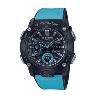 Relógio Casio G-Shok GA-2000-1A2ER, com pulseira de resina azul para homem