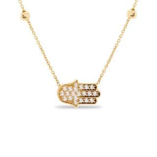 Collar de oro en forma de mano 42 + 3 cm