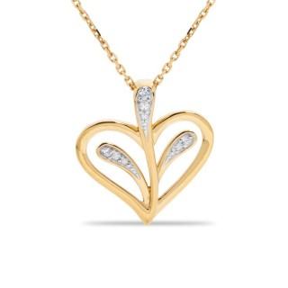 Collar de oro 9 KT y circonita en forma de árbol de la vida 42 + 3 cm