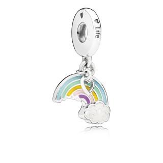 Charm Pandora 797016ENMX arcoíris colgante de plata