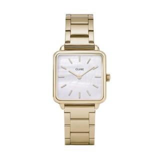 Reloj Cluse Tétragone CL60026S para señora de acero chapado, 3 ATM