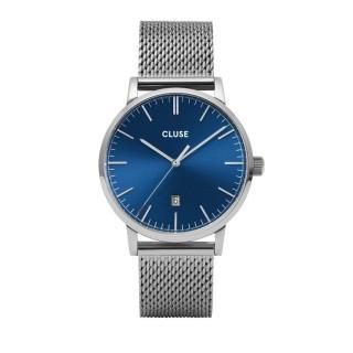Reloj Cluse Aravis CW0101501004 para caballero con correa milanesa y esfera azul