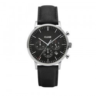 Reloj Cluse Aravis CW0101502001 para caballero con correa negra y esfera negra