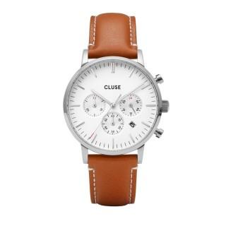 Reloj Cluse Aravis CW0101502003 para caballero con correa caramelo y esfera blanca