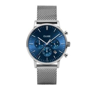 Reloj Cluse Aravis CW0101502004 para caballero con correa milanesa y esfera azul