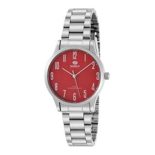 Reloj Marea B41242/8 para mujer con correa de acero y esfera roja, 5 ATM