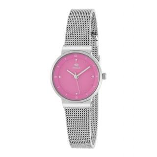 Reloj Marea B41252/3 para mujer con correa milanesa y esfera rosa,  3 ATM