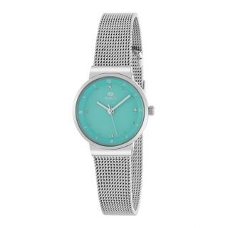 Relógio Marea B41252/4 para mulher com pulseira milanesa e mostrador verde,  3 ATM