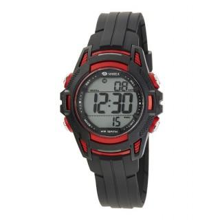 Relógio Marea B44099/1 para menino/a com pulseira preta/rosa e mostrador digital, 10 ATM