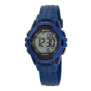 Relógio Marea B44099/4 para menino/a com pulseira azul/preta e mostrador digital, 10 ATM