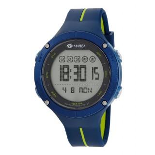 Relógio Marea B44100/2 para homem com pulseira azul/verde e mostrador digital, 10 ATM