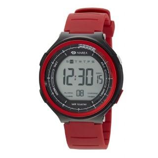 Relógio Marea B44101/4 para homem com pulseira vermelha/preta e mostrador digital, 10 ATM