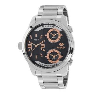 Reloj Marea B54131/1 para hombre con correa de acero y esfera negra/rosa, 5 ATM