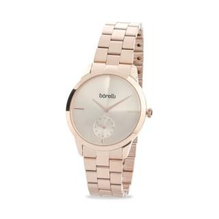 Reloj Borelli 03K89FB06-B para mujer con correa de acero rosa y esfera rosa