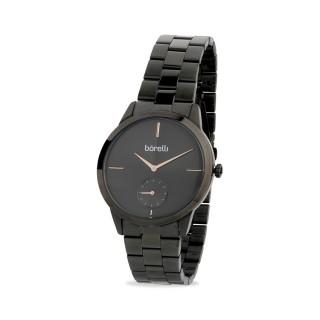 Reloj Borelli 03K89FB06-C para mujer con correa de acero gris y esfera gris/rosa