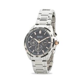 Reloj Borelli 03L96GB01-B multifunción para hombre con correa de acero y esfera negra