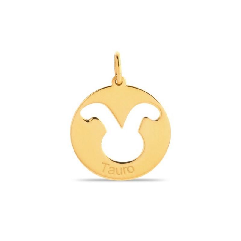Colgante de oro 9 KT símbolo del signo tauro